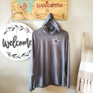 Nike Dallas Cowboys Dri-Fit Hooded Shirt